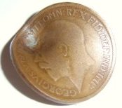 Damaged Halfpenny
