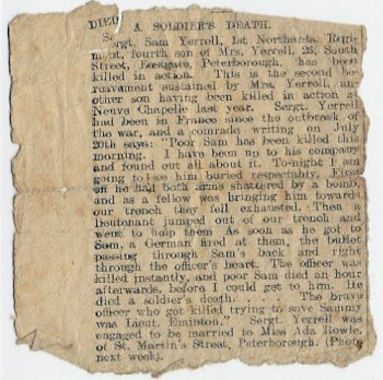 Newspaper Cutting